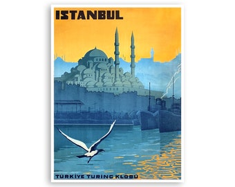 Olu Deniz Turkey Framed Wall Art Vintage Travel Poster City Art