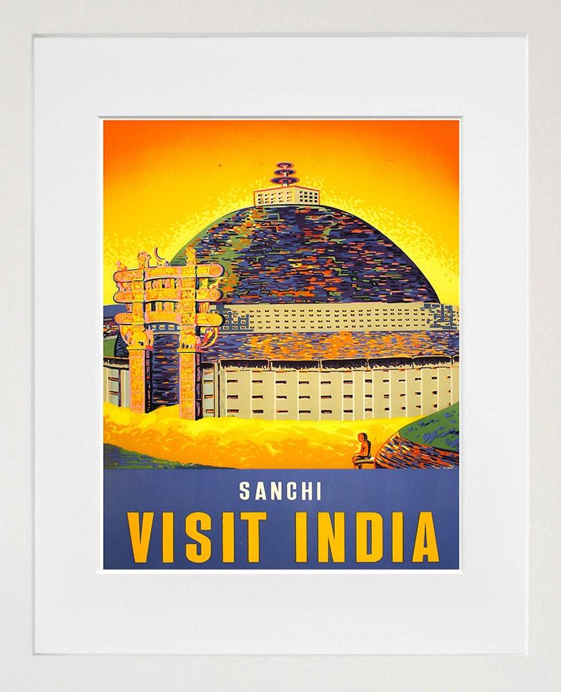 Vintage Travel Poster India Wall Art Print ZT605 | Etsy