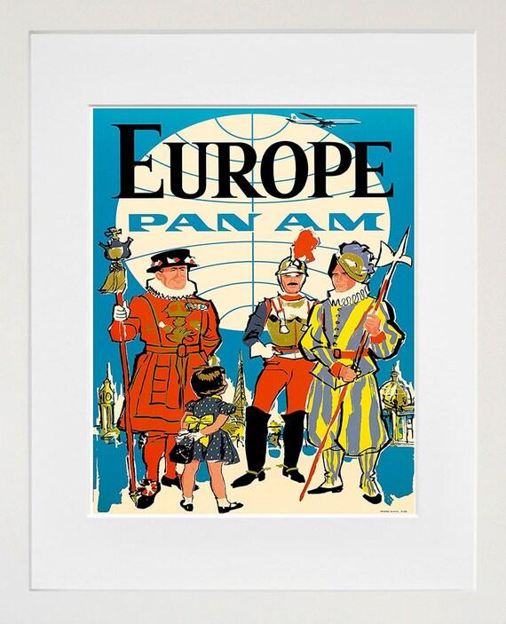 Europe Travel Poster European Wall Art Print Home Decor | Etsy