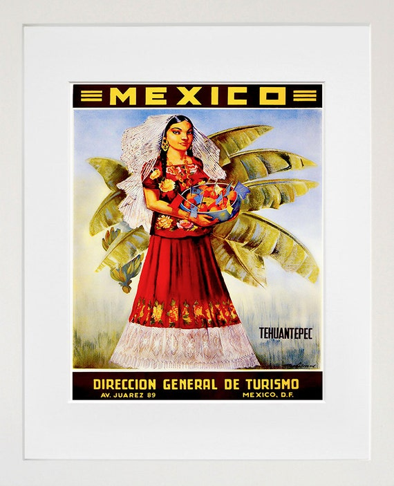 West Coast of Mexico by Train Mexican Travel tin sign living wall decor
