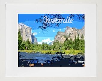 Yosemite National Park Art Travel Poster Print Home Decor (ZB3)