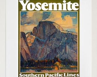 Travel Poster Yosemite National Park Vintage Art Print (TR7)