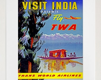India Art Wall Print Travel Poster (TR48)