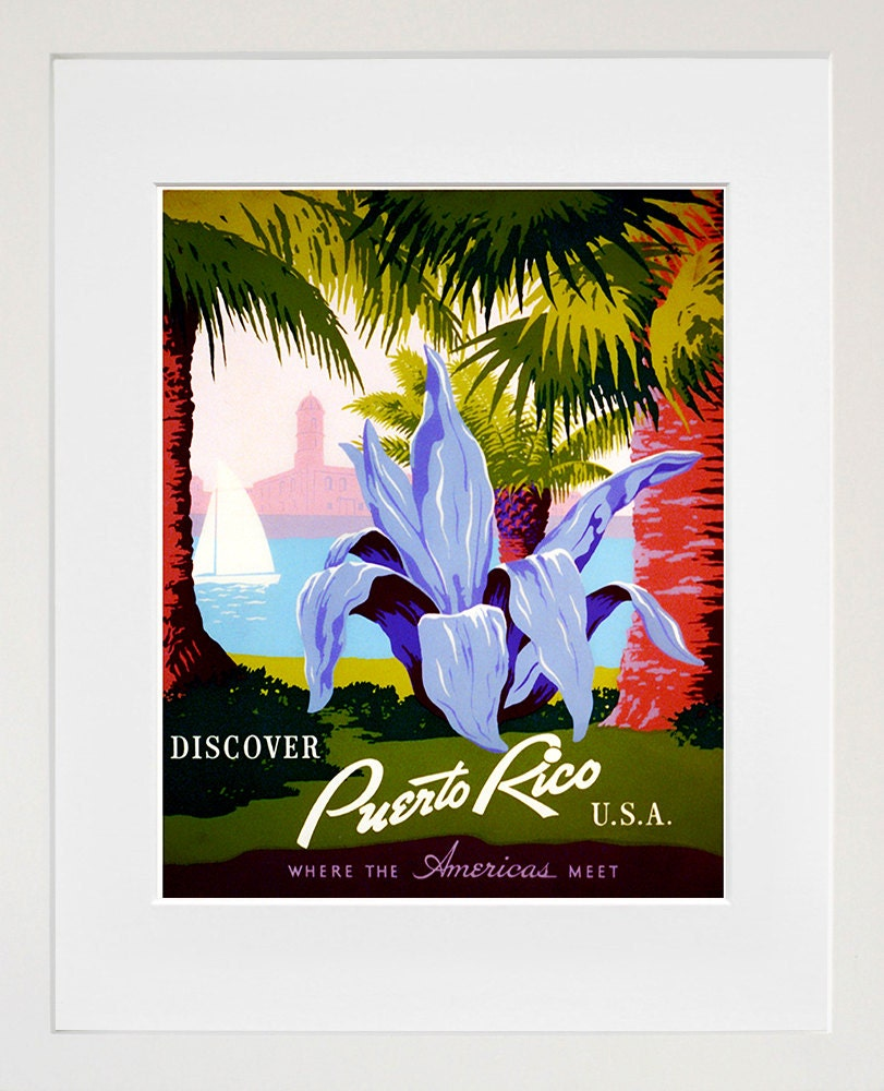 Puerto Rico Travel Poster Home Decor Wall Art Print ZT536