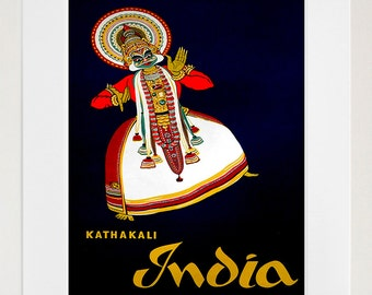 India Art Sign Indian Travel Poster Print (XR396)