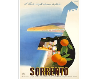 Sorrento Italy Travel Poster Decor Wall Art Print (XR2659)