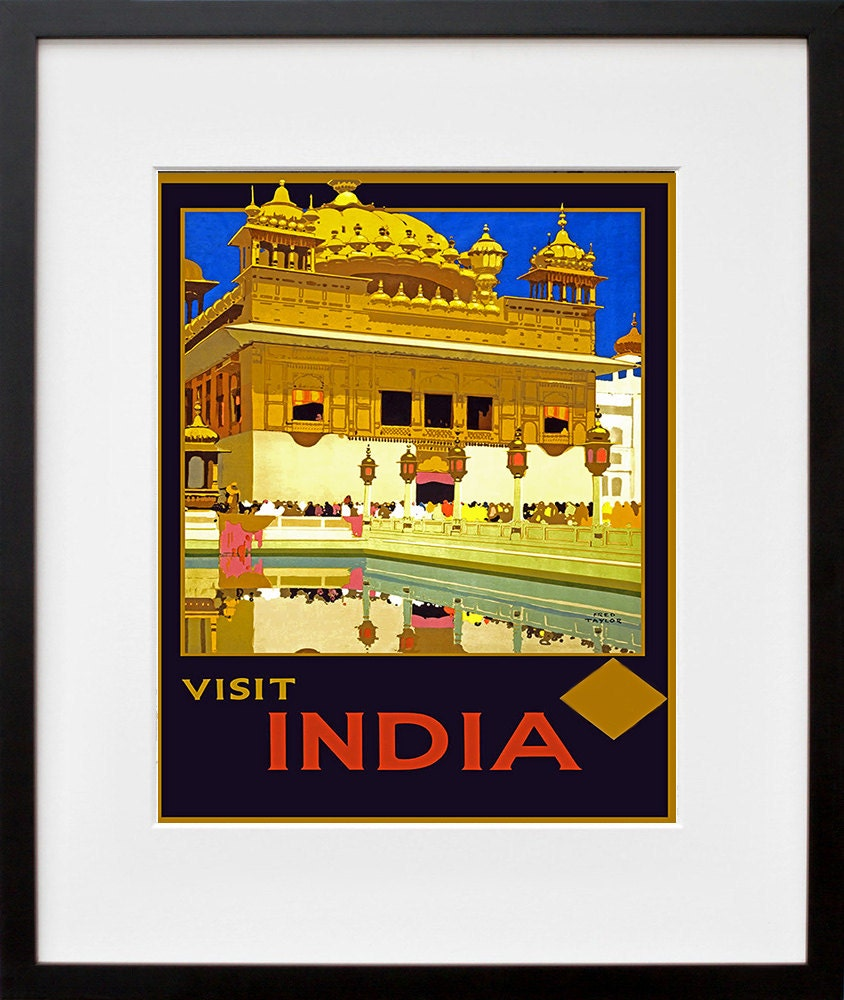 Travel Print India Poster Vintage Art Wall Decor ZT233   Etsy