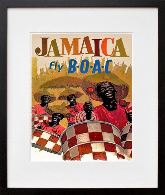 Jamaica Travel Poster Jamaican Art Print Home Decor Zt396 Etsy