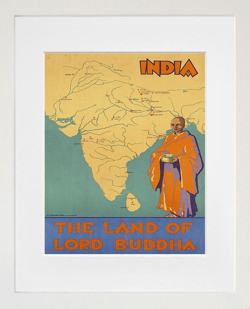 India Travel Poster Vintage Print Wall Art ZT240   Etsy