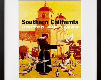 California Travel Art Print Monastery Home Decor (ZT290)