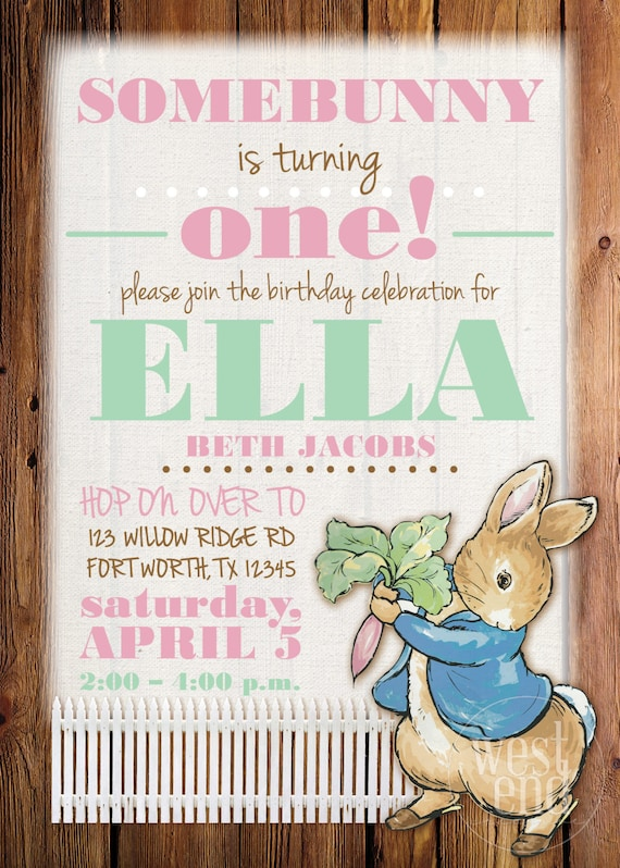 Peter rabbit invitation peter rabbit birthday invitation etsy image 0 filmwisefo