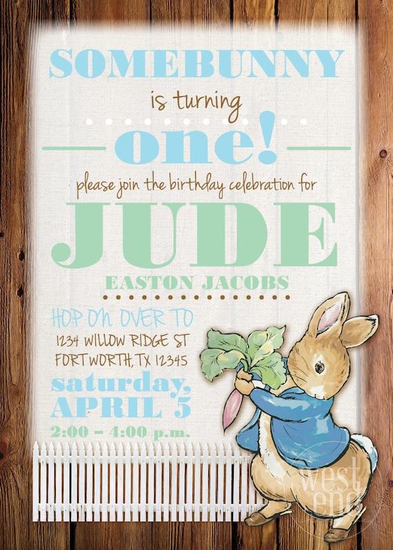 Peter rabbit birthday peter rabbit invitation peter rabbit etsy image 0 filmwisefo
