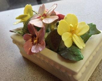 April 1974 Staffordshire Fine Bone China Miniature Flower Box
