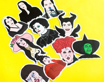 Witches Sticker Pack / Goth / Hocus Pocus / Wednesday Addams / Morticia Addams / Witchcraft / Feminism Feminist Valentine's Day