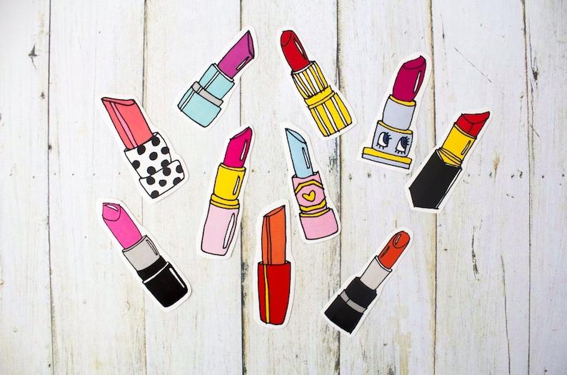 Lipstick Sticker Pack / Black Friday Cyber Monday Christmas image 0