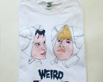 Weird Science t-shirt / Illustrated unisex t-shirt / black friday / back to school / Summer / Sale / Cult Movie / Festival T-shirt
