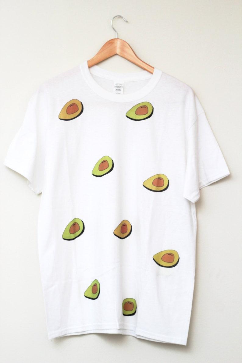 Avocados T-Shirt / Illustrated Unisex Gift Birthday White image 0