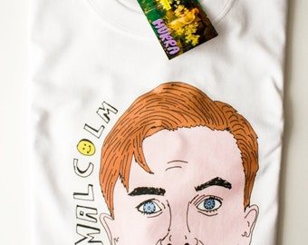 Malcolm In The Middle T-shirt / Illustrated Tee Shirt Men's Women's Funny  Nineties Cyber Monday Festival T-shirt back to school Summer