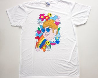 Elton John t-shirt / Illustration / Drawing / Farewell Tour /  Your Song / Tiny Dancer / Rocket Man / Bennie and the Jets