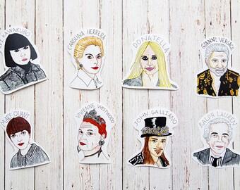 Fashion Designers Sticker Pack / Donatella Versace Gianni Versace Carolina Herrera Rei Kawakubo Black Friday Cyber Monday Valentine's Day