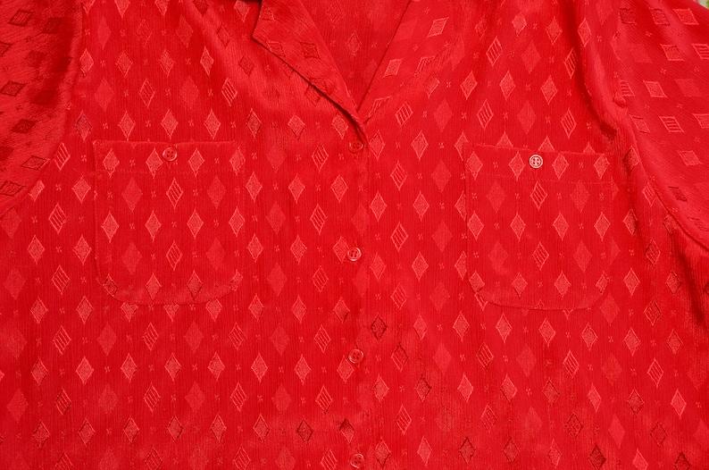Red Diamond Blouse