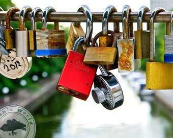 Urban Photography | Love Locks Over the Canal | Digital Download
