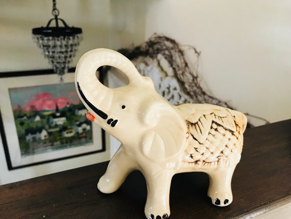 Brazil Elephant Trunk Up Statue Ceramic Elephant Figurine | Etsy