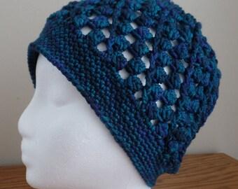 Women s Crochet Teal Wool Hat ebe6e00789b