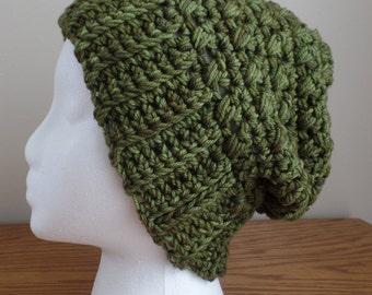 Women's Chunky Crochet Slouchy Beanie