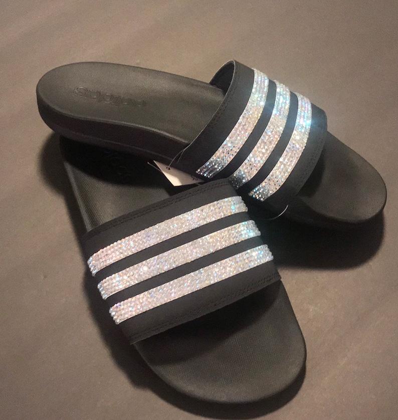 ac51f53f650 Women's Adidas Adilette Cloudfoam+ Slide Sandal with custom bling