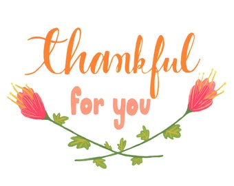 Thankful For You - Blank Notecard - Greeting card
