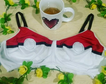 Pokebra Soft Cup Pokemon Ball Bra 30-40 AAA-DDD/F