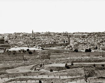 Jerusalem Panoramic View - Old City from the Mount of Olives