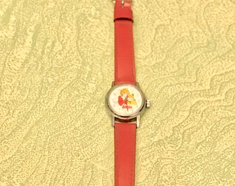 Vintage Little Orphan Annie character watch seven jewel Picco