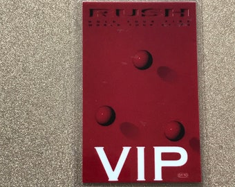 1987 Rush laminated VIP backstage pass Hold Your Fire tour