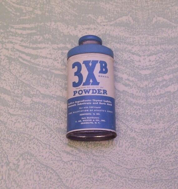 Jahrgang 3 X B Marke Pulver Probe Größe Miniatur Werbung Zinn | Etsy