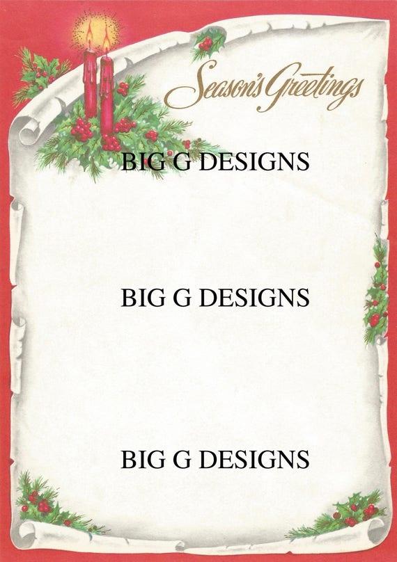 Vintage Season\'s Greetings Christmas letter stationery   Etsy