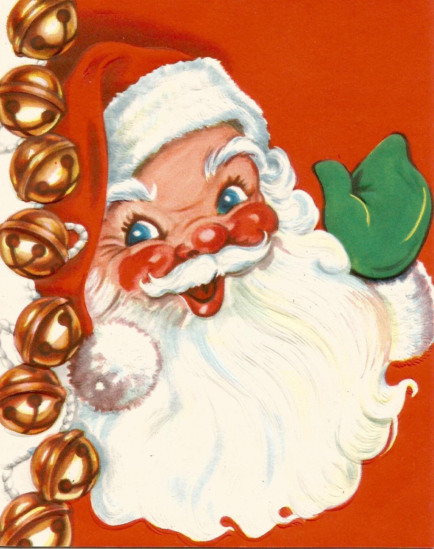 Vintage Santa Claus Christmas card digital download printable | Etsy