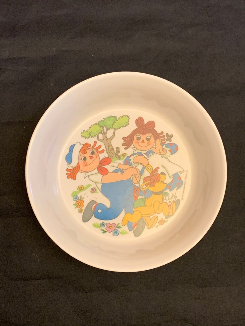 Oneida Deluxe melmac melamine 1978 Raggedy Ann and Andy bowl