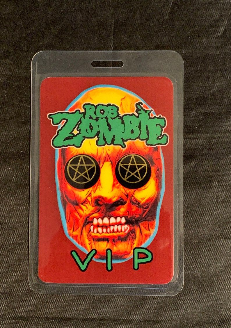 Vintage laminated OTTO Rob Zombie VIP back stage pass Rock is Dead tour