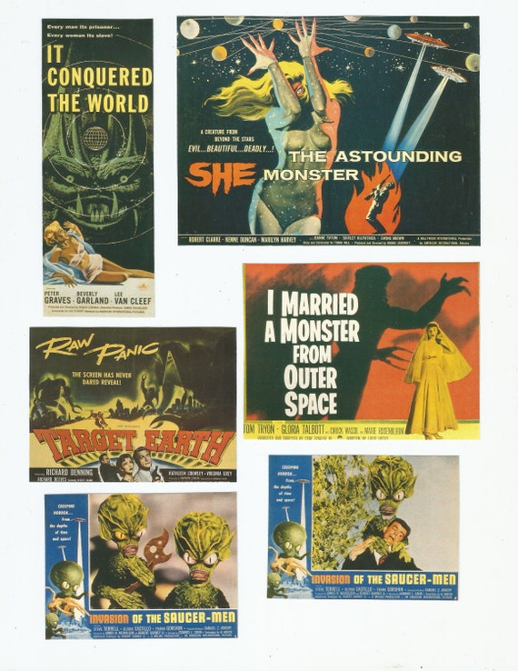 It Conquered the World Science Fiction Vintage Poster