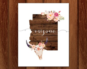 Arizona printable wall art, Instant Download