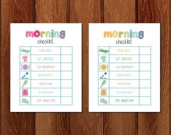 Bedtime Checklist Printable Instant Download Etsy