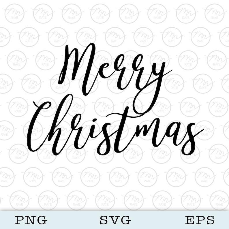 Merry Christmas svg Digital Clipart Files For Cricut image 0
