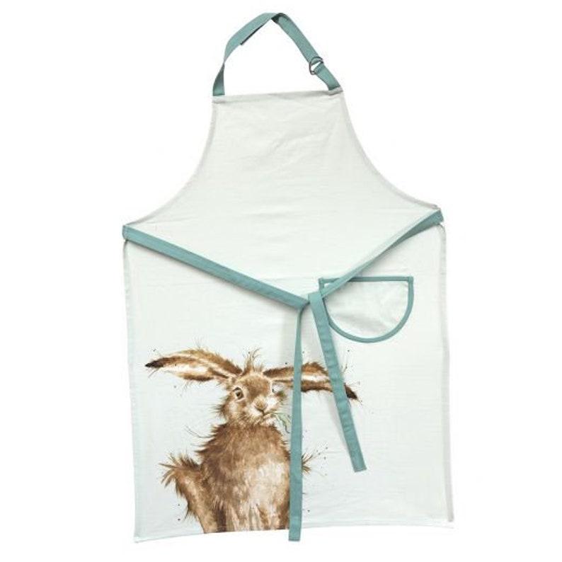 /'Hare-Brained/' Cotton Apron Wrendale Designs