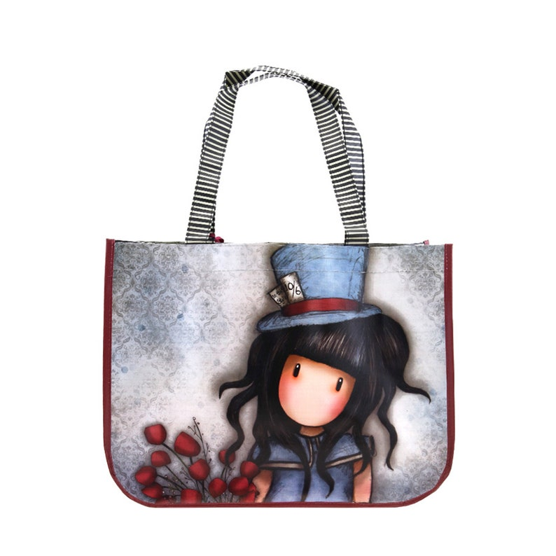 Santoro Gorjuss The Hatter Large Coated Shopper Bag