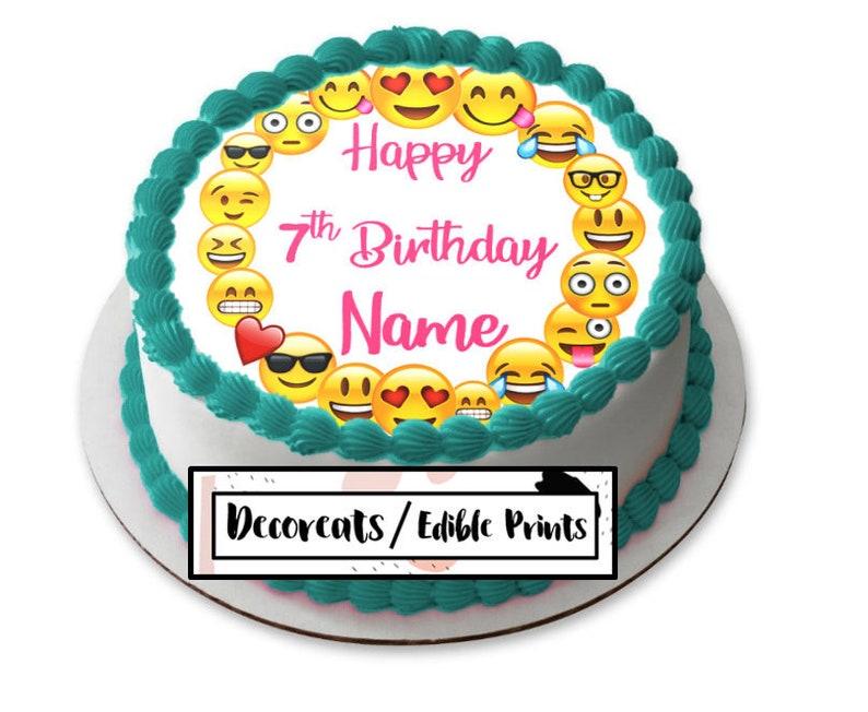 Emoji Cake Topper Cupcake Precut Edible Image