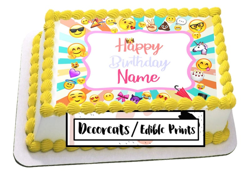 Emoji Cake Topper Birthday Edible Image