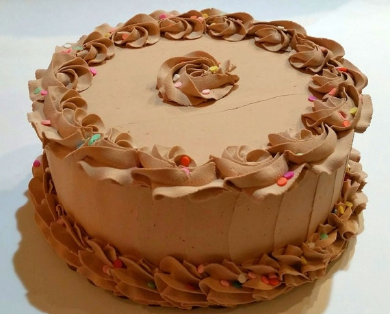 Astonishing Large Fake Chocolate Cake Confetti Birthday Cake Decoration Etsy Funny Birthday Cards Online Sheoxdamsfinfo