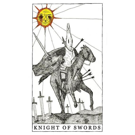 Knight of Swords - Poster Print - The Tarot Restless